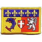 Écusson brodé Flag Patch France Rhône-Alpes - 8 x 6 cm