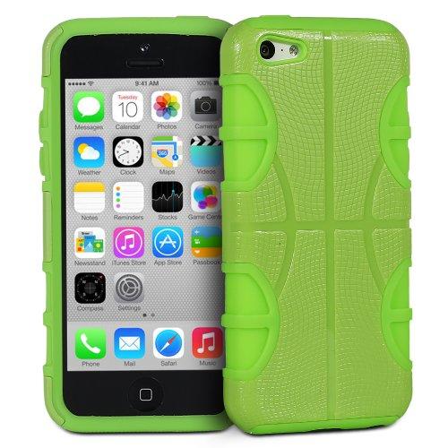 Fosmon HYBO-BBALL Abnehmbar Hybride Silicone + PC Case Cover hülle für iPhone 5c - Rosa / Rosa grün