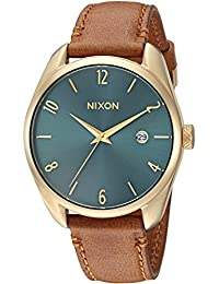 Nixon Women's 'Bullet Leather' Quartz Stainless Steel Casual Watch, Color:Brown (Model: A4732626)