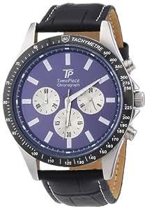 Time Piece Herren-Armbanduhr XL High Tech Chrono Chronograph Quarz Leder TPGA-20109-31L