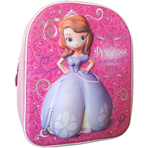Disney Girl 's Pink Princes Sofia die Erste Magic 3D Reisen Rucksack Schule Tasche
