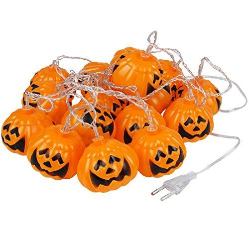 Andux striscia da con 16 luci led zucca a forma di per decorazioni di halloween ngdc-01