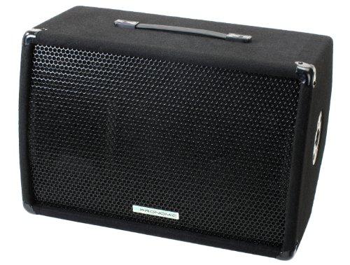 "Pronomic MKA12D PLUS 12\"" (30cm) Aktiv Monitor DJ PA Bühnen Lautsprecher 300W (150W RMS, Digitale Endstufe, Mixer Sektion, Flansch Einsatz)"