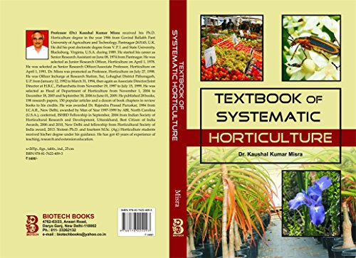 Textbook of Systematic Horticulture [Hardcover] Misra, Kaushal Kumar par Kaushal Kumar Misra
