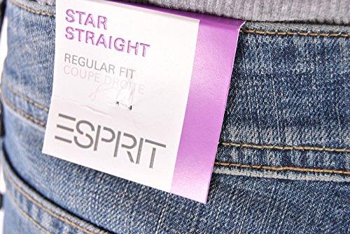 ESPRIT Damen Jeans N29C26, Bootcut Blau