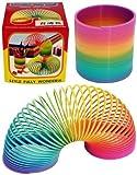 PLASTIC 6.5cm RAINBOW SPRING slinky toy CP100P