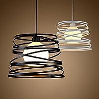 comeonlight® Lámparas de Colgante LED Lámparas Industriales Retro Iluminación Principal única de Estilo Vintage Americano, Diámetro 32 cm, 220V-240V (negro,bulbo no incluido)