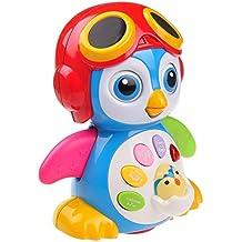 Pinguino Musicale Danzante per Bambini e Bambine TG655 – Possiede diverse funzioni, luci, e suoni – Giocattolo Parlante Divertente creato da ThinkGizmos (marchio protetto)