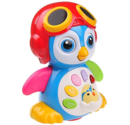 Musical Dancing Penguin Toy For Boys and Girls Kids or Toddlers TG655 � Features different Modes, lights, Sounds � Fun Storytelling Toy By ThinkGizmos (Trademark Protected)