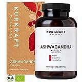 Kurkraft Premium Bio Ashwagandha (180 Kapseln) - 600mg je Kapsel (1800mg je Tagesportion) - Vegan - Einführungspreis - ohne Zusatzstoffe - Sorgfältig hergestellt in Deutschland
