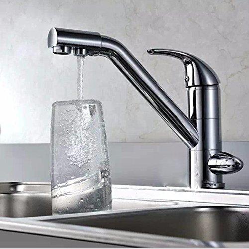 LHbox Das Kupfer bis Wasser Spender Wasseraufbereiter Wasserhahn, Waschbecken Küche Teller Waschbecken Wasserhahn, Einzigen Griff Einzelne Bohrung mit Kalt- und Warmwasser Tippen