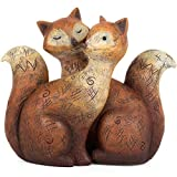 Jones Home and Gift Something Different Wholesale Fox Family Ornament, Brown