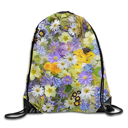 ZHIZIQIU Drawstring Bags Bulk Blooming Summer Floral Drawstring Backpack Bag Shoulder Bags Bag for Adult Size: 4133cm - Floral Drawstring Shoulder Bag