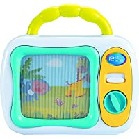 My First TV Baby Musical Television Toy Box with Colourful Toy Safari Jungle Animals and Sleepy Lullaby Play for Ages 6 Months Up Infant Baby Toddlers Boys Girls, Safety Tested, BPA Free