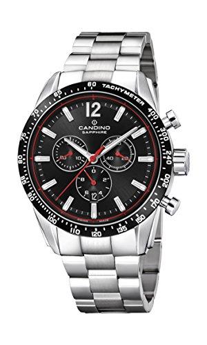 Candino Reloj Cronógrafo para Hombre de Cuarzo con Correa en Acero Inoxidable C4682/4
