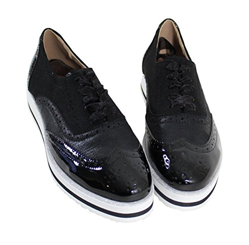By Shoes Scarpe Stringate Basse Donna Nero