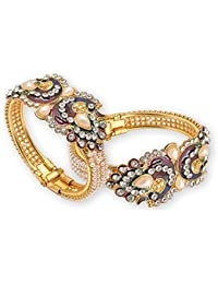 JSD Traditional Jewellery Gold Plated Pearl Bracelets Bangles Jewellery For Women And Girls