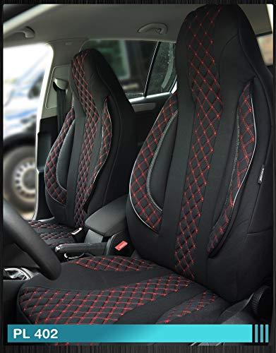 Maß Sitzbezüge kompatibel mit Fiat Ducato 250 Fahrer & Beifahrer ab BJ 2006 Farbnummer: PL402