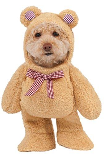 Rubie 's Walking Teddy Bär Pet Kostüm, groß (Bären Kostüm Für Große Hunde)