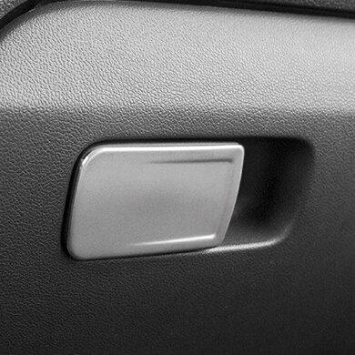 ULTIFIT (TM) NUEVO ACERO INOXIDABLE INTERIOR DE LA GUANTERA CUBIERTA DE LA MANIJA DE AJUSTE PARA VOLKSWAGEN VW POLO 2014 2015