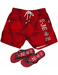 Smith & Jones Decibel Boardshort Swimshorts & Flip Flops Bundle Set