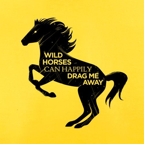Wildes Pferd - Herren T-Shirt - 13 Farben Gelb