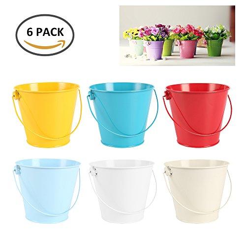 LoveStory 10Metall mit Blumen Topf Pflanzen-Übertopf mit Eisen-Vase, Zaun, Balkon, Garten-Dekoration Deko