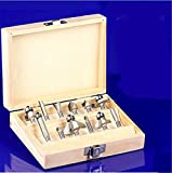 SHINA 12pcs 6,35mm Schaftdurchmesser Oberfräser Fräser Holz machen Router End Mill CNC Engraving falzen Satz 2