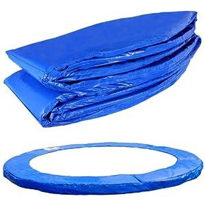 Terena® Federabdeckung 183- 244- 305- 366- 396- 427- 457- 488 cm für Trampolin Randabdeckung blau PVC – UV beständig