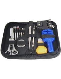 TRIXES 13-teiliges Set für Uhrenreparatur, Armbandverkürzung und Batteriewechsel