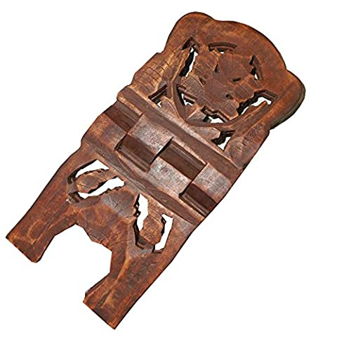porte livre 30cm dépliable en bois de shisham