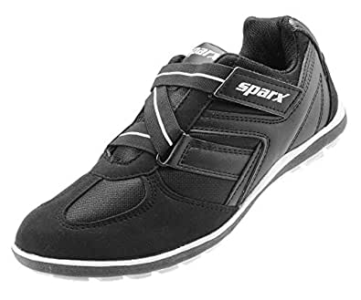 CLICKTIN Sparx Men's Black and White Running Sport Shoes - 7