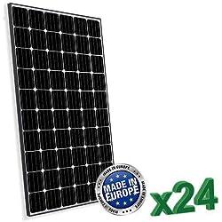 Conjunto de 24 Placa Solar Fotovoltaico 300W Total 7200W Monocristalino Europeo adecuado para instalaciones en Casa Baita Camper Caravan