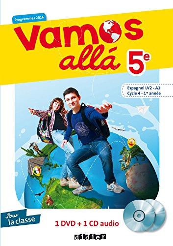 Vamos allá 5e - Cycle 4, 1ere année - Espagnol LV2 (A1) - Coffret 1 CD audio + 1 DVD