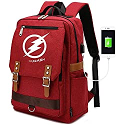 RLJqwad The Flash School Bag Mochila para Computadora Bolsa De Viaje DC Comic Hero Justice League Anime Niños Mochila 6