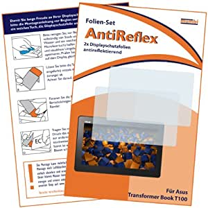 2 x mumbi Displayschutzfolie ASUS Transformer Book T100 (T100TA 25.65 cm 10.1 Zoll) Schutzfolie AntiReflex matt