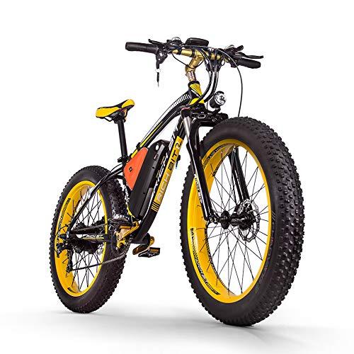 RICH BIT Bicicleta eléctrica para hombres E-bike Fat Snow Bike 1000W-48V-17Ah Li-batería 26 * 4.0 Bicicleta de montaña MTB Shimano 21-speed Disc Brakes Intelligent Electric Bike