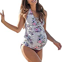 Luckycat Tankini Traje de baño Mujer Maternidad Premamá Punto Deportes Bañador Un Piezas Embarazada Bikini Traje
