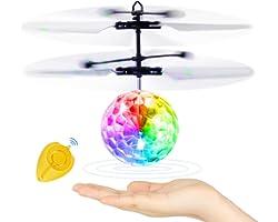 Blasland Palla Volante, Giocattoli per Bambini Mini Drone Elicottero Telecomandato Aereo RC con Luci LED Gadget Compleanno Re