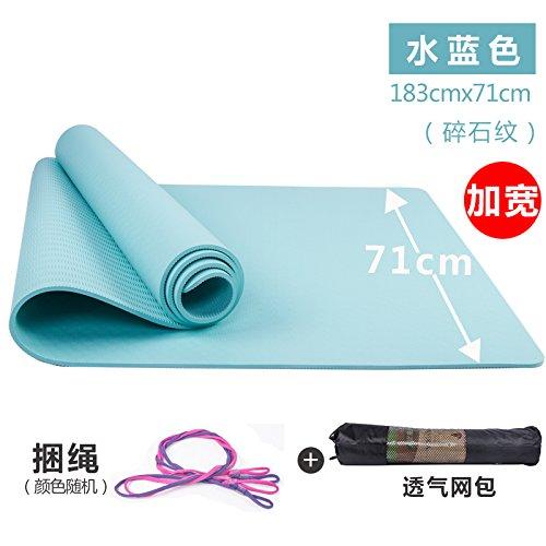 YOOMAT TPE-Yoga-Matten-Thick Weit Stretch Fitness-Matte Yoga-Matten-Starter Rutschhemmende Geruchs-...