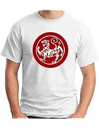 Cotton Island - T-shirt TAM0125 ma shotokan tiger stitch red tshirt