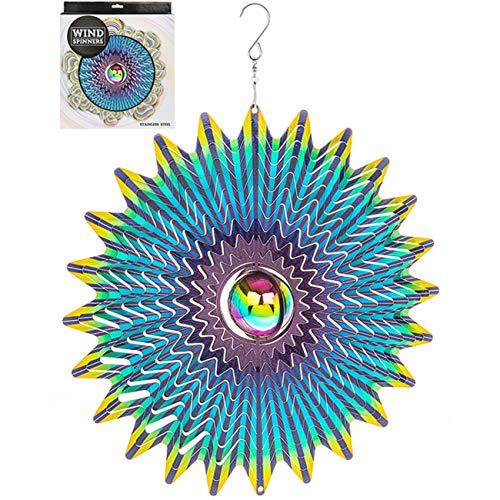 Gazing Ball (Große 30,5cm Edelstahl Gazing Ball Wind Spinner Sun Catcher