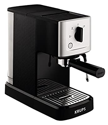 Krups XP344040 Calvi Manual Traditional Espresso Coffee Machine, 1500 W, Black from Groupe SEB