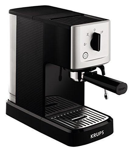 Krups XP344040 Calvi Manual Espresso Steam and Pump Coffee Machine, 1500 W, Black 51kDbdqlJ4L