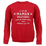 une maman normal volleyball - Unisex Sweat - Rouge - XXL