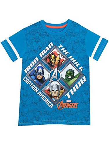 Marvel Avengers Boys Avengers T-Shirt Ages 3 To 13 Years