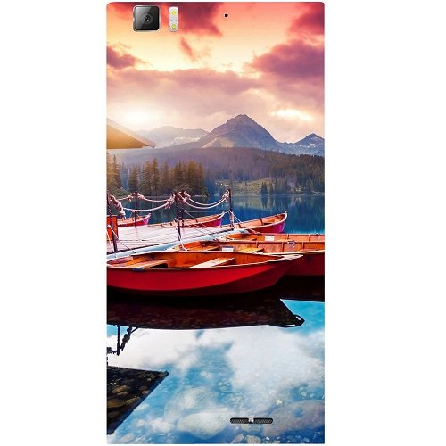 Casotec Sunset Sea Design Hard Back Case Cover for Lenovo K900  available at amazon for Rs.149
