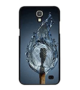 Fuson Premium 2D Back Case Cover Water fire With Black Background Degined For Samsung Galaxy Mega 2 SM-G750H