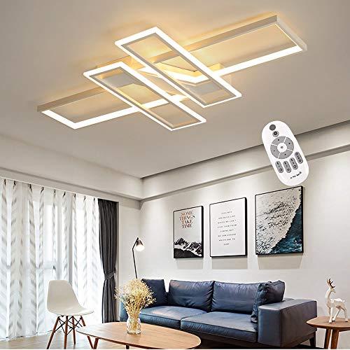Lámpara de techo LED Iluminación Sala de estar Lámpara de techo minimalista moderna Lámpara de techo regulable Aluminio Acrílico Luminaria Salón interior Dormitorio Estudio Oficina Lámpara de techo