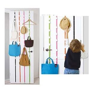 Vktech Hat Bag Clothes Organizer Hanging Cap Rack Holder Over Door Straps With 16 Hook